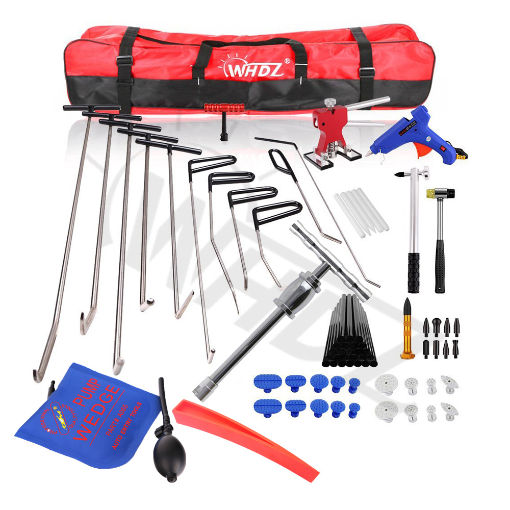 PDR Auto Body Dent Removal PDR Tool Kit - Door Ding Repair Starter Set Dent Lifter with Slide Hammer Repair pump wedge Tools