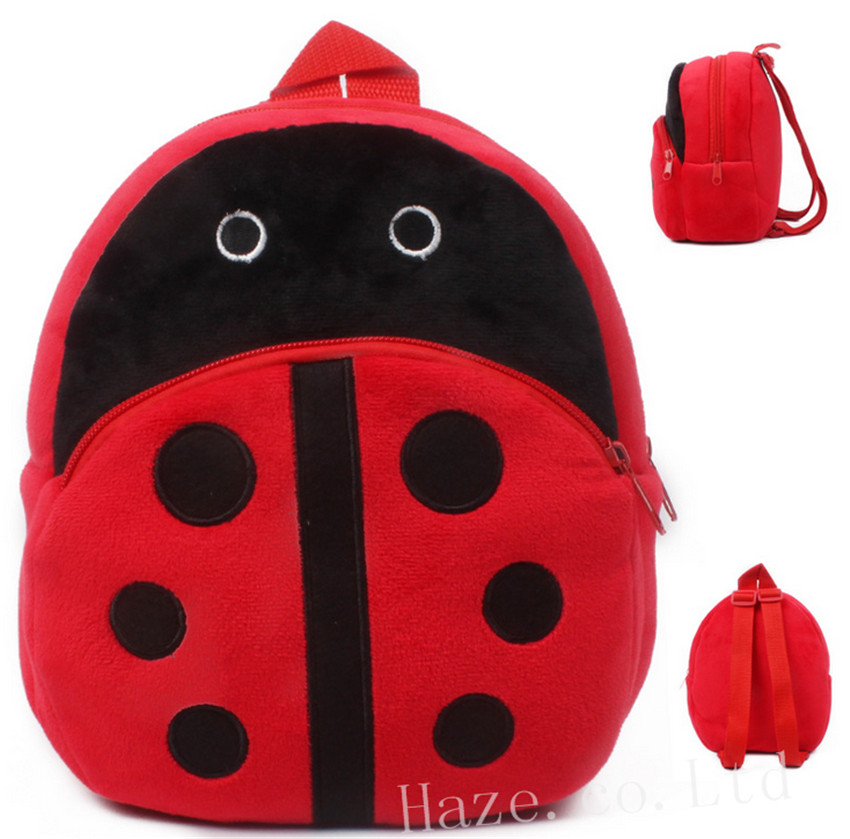 Ladybug Kids Plush PreSchool Backpack Toddlers Baby Cute School Bag
