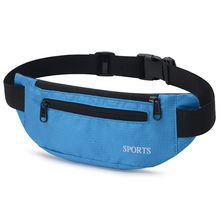 High Quality Casual Waterproof Nylon Fanny Pack Running Belt with 3 Zipper Pockets Outdoor Waist