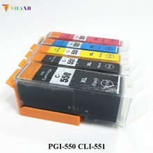 цена на PGI-550 CLI-551 Ink Cartridge For Canon PGI550 CLI551 Pixma IP7250 MG5450 MG5550 MG6450 MG5650 MG6650 IX6850 MX725 MX925 Printer