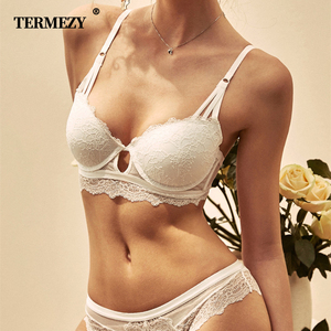 Image 1 - New Womens underwear Set Sexy Push up Bra And Panty Sets Hollow Brassiere Gather Sexy Bra Embroidery Lace Lingerie Set