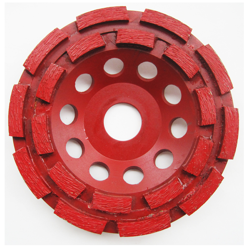 5 Diamond Segment Grinding Cup Wheel Double Row Grinder Disc for Concrete Granite Stone Marble