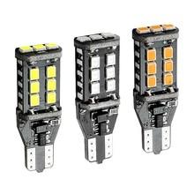 T15 W16W WY16W 15 LED 2835 SMD Canbus No Error bombilla trasera de coche de la luz de freno Luz de marcha atrás de coche señales de giro rojo blanco amarillo ámbar