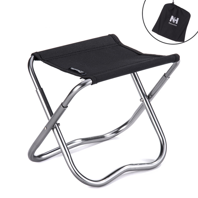 Mini Folding Beach Chair Lightweight Easy To Carry Outdoor Fishing Stool Camping Gargden Portable train Chair with a Bag
