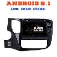 8 ips Android 8,1 четырехъядерный автомобильный dvd GPS; Мультимедийный проигрыватель для Mitsubishi outlander 2013 2018 с canbus 2 + 16 г wifi 4 г BT