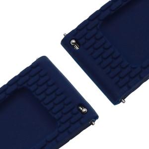 Image 2 - Bracelet de montre en Silicone bracelet de montre pour Breitling, 17mm, 18mm, 19mm, 20mm, 21mm, 22mm, 23mm, 24mm, pour bracelet de montre IWC Panerai