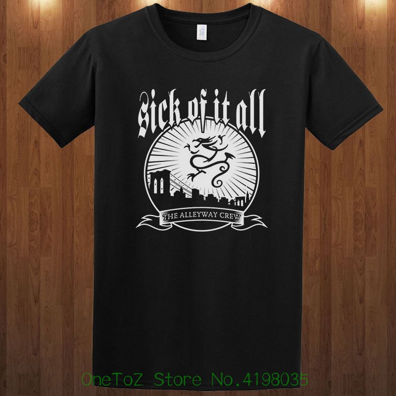 Sick Of It All Tee Hardcore Punk Band Lou Koller S M L Xl 2xl 3xl T-shirt Different Colours High Quality 100%