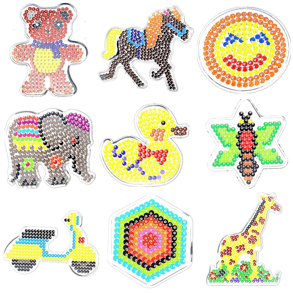 22 Pcs 5mm Hama Perler Beads Pegboard Toy Vehicles Animal Geometric Shape DIY Puzzle Hama Beads Board Kids Toys Gift