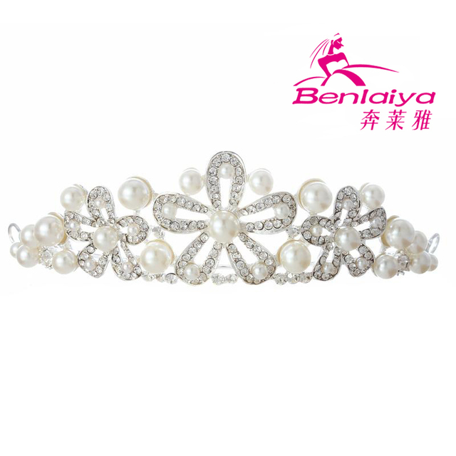 2013 New Free Shipping 2pcs/lot Rhinestone Tiara Wedding Flower Hairwear Bridal Crown Silver Plated Jewelry Wedding Accessories