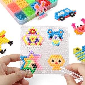 Image 2 - Koraliki DIY woda Magische Kralen Dier Mallen ręcznie Maken Kralen puzzle dzieci Educatief Speelgoed Voor Kinderen Ban Vullen