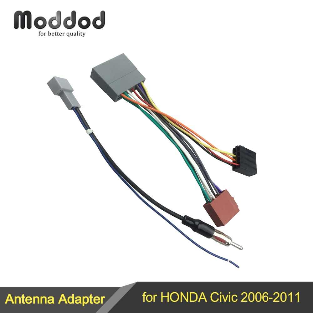 wire harness cable for honda civic 2006 2011 iso wiring harness antenna aerial adaptor [ 1000 x 1000 Pixel ]