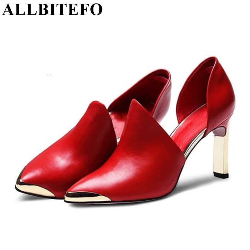 ФОТО ALLBITEFO Fashion Soft genuine leather women pumps two-piece wedding shoes pumps 2016 new spring summer ladies party high heels