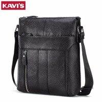 KAVIS Genuine Leather Messenger Bag Men Shoulder Crossbody Handbag Bolsas Sac Party Sling Chest For Briefcase