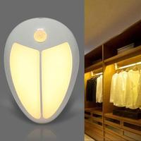 Mini led Wall Lamp Wireless IR Motion Sensor 5LED Night Light home hotel decoration Bedroom Closet Wall lamp chandelier