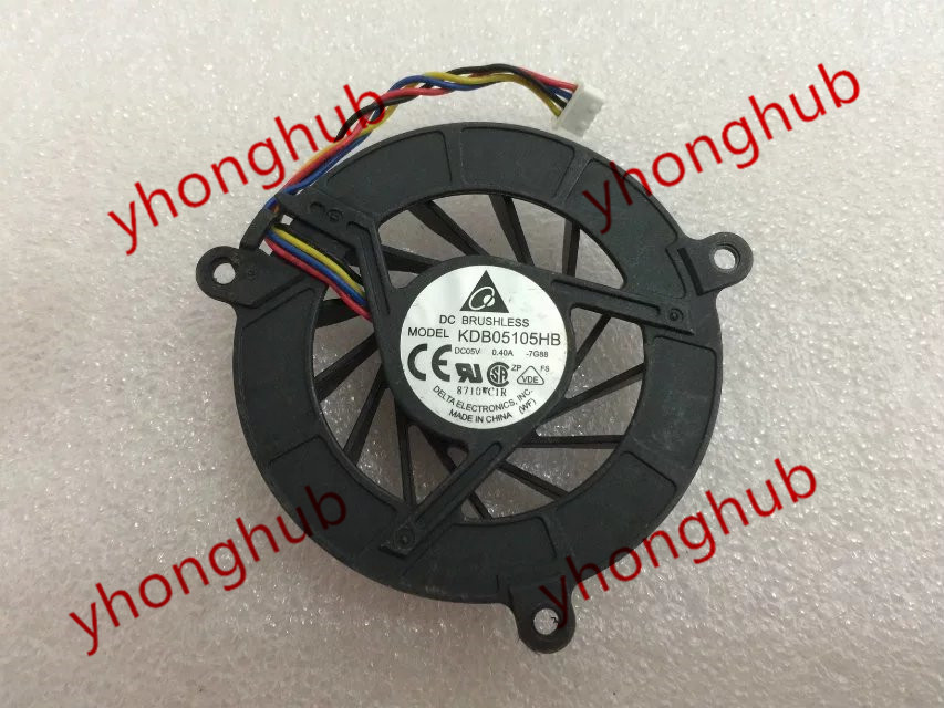 Delta KDB05105HB, -7G88 DC 5V 0.40A 4-wire 4-pin connector 50mm  Server Round Cooling fan delta 12038 12v cooling fan afb1212ehe afb1212he afb1212hhe afb1212le afb1212she afb1212vhe afb1212me