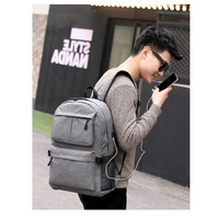 Men and Women Waterproof Anti Theft Business Travel Backpack With USB Charger Port Laptop Book Shoulder Bag Popular AB@W3