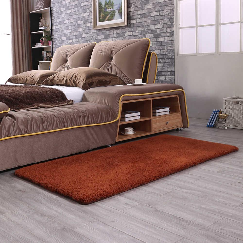 Высокое качество Красный кашемир чистый цвет ковер прикроватное одеяло коврик высокой плотности утолщаются коврики гостиная фойе спальня коврик