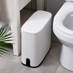 Wielofunkcyjny plastikowy wąski kosz na śmieci kosz na śmieci kosz na śmieci kosz na śmieci kosz na śmieci kosz wiadro na śmieci szczotka czyszczenie łazienki w Kosze na śmieci od Dom i ogród na