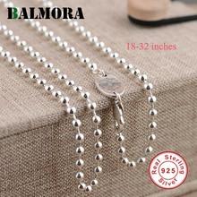 Balmora 100% натуральная Pure 925 пробы Серебряные ювелирные изделия Ожерелья для Для женщин 925 Серебряный Цепи Подарки Высокое качество ожерелье JLW60124