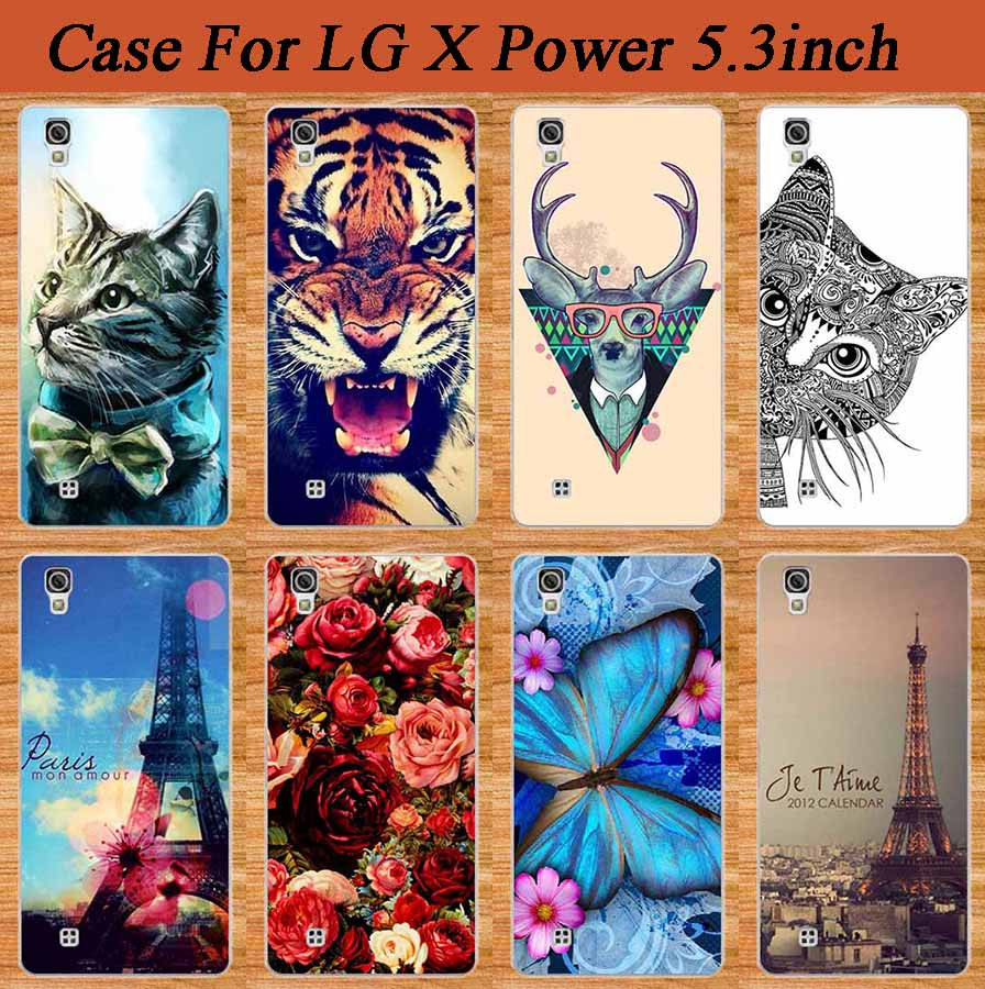 For LG X Power 5.3inch Protect case cover Hot Sales New Popular Brilliant Painting Colored Tower For LG x power 5.3 case cover