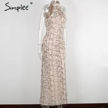 Elegant sequin tassel maxi mermaid dress Women evening party summer dress 2018 sexy mesh long dress vestidos