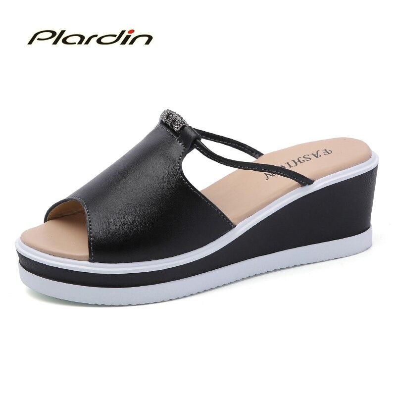 ФОТО Plardin 2017 Bohemia Summer Casual Women's Flip Flops Flat Sandals Shoes For Women Wedges Beach Sandals Shoes Woman open top