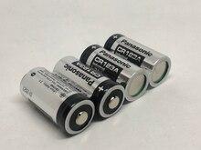 4pcs/lot New Panasonic CR123A CR 123A 3V 1400mAh Lithium Battery Non-rechargeable Camera Batteries