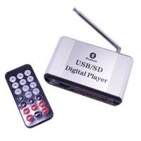 Car Amplifier Amplified Sound Box Bluetooth AUX FM USB SD TF Digital Player MP3 Music Audio