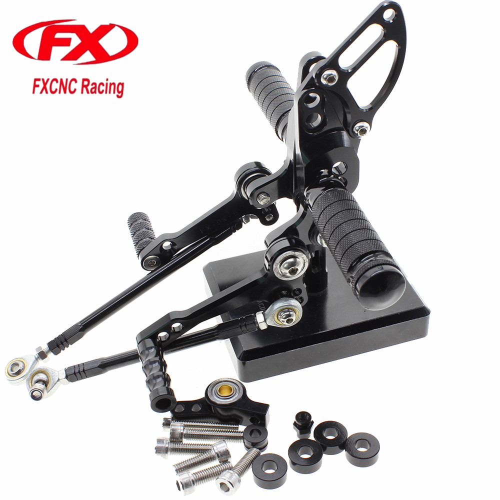 FX CNC Aluminum Adjustable Motorcycle Rearsets Rear Set Foot Pegs Pedal Footrest Foot Rests For DUCATI STREETFIGHTER 848 1100 cnc aluminum motorcycle adjustable rearset rear set foot pegs pedal footrest for kawasaki ninja 650 ex650 er 6n er 6f 2012 2016