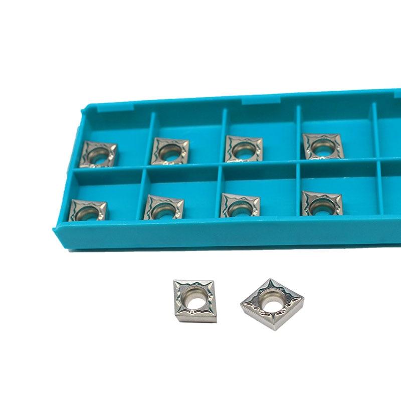 10PCS CCMT09T304 FG CT3000 Internal Turning Tools Cermet Grade Carbide Insert Lathe Cutter Tool Tokarnyy Turning Insert