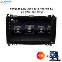 Funrover Android 8,0 Авто Радио DVD gps для Mercedes Benz Sprinter B200 W209 W169 W169 B класс W245 b170 Vito W639 RDS WI FI
