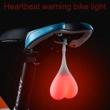 2016 Hot Sale Bike Light Cycling Warning Waterproof Rear Tail Bicycle Light Heart Shape MTB Heartbeat Light Luces Led Bicicleta