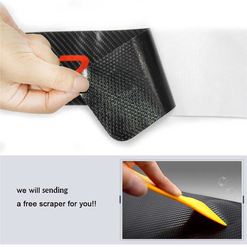 4 unids/set de fibra de carbono Umbral de desgaste antiarañazos pegatina coche Auto estilo 4D Anti-rayado Anti-kick Sticker