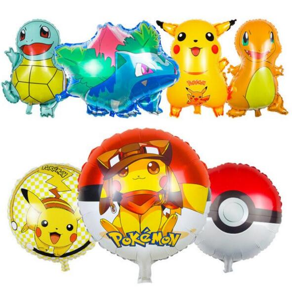 70cm pokemon ball foil balloons inflatable toys helium balloons