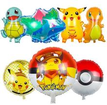 70CM pokemon ball Foil Balloons Inflatable toys Helium Balloons Children classic toys happy Birthday balloons Party Supplies