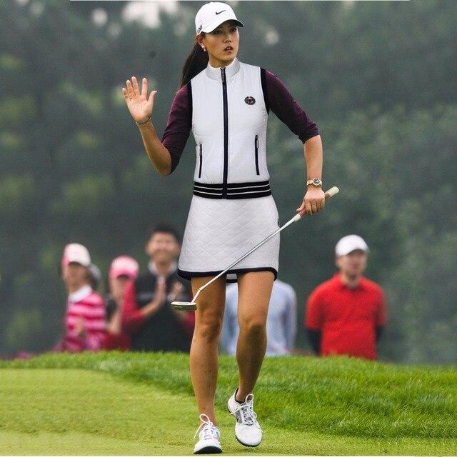 PGM гольф одежды Для женщин Куртки без рукавов жилет высокой упругой ветрозащитная теннис жилет Гольф короткое платье; Спортивная одежда для женщин