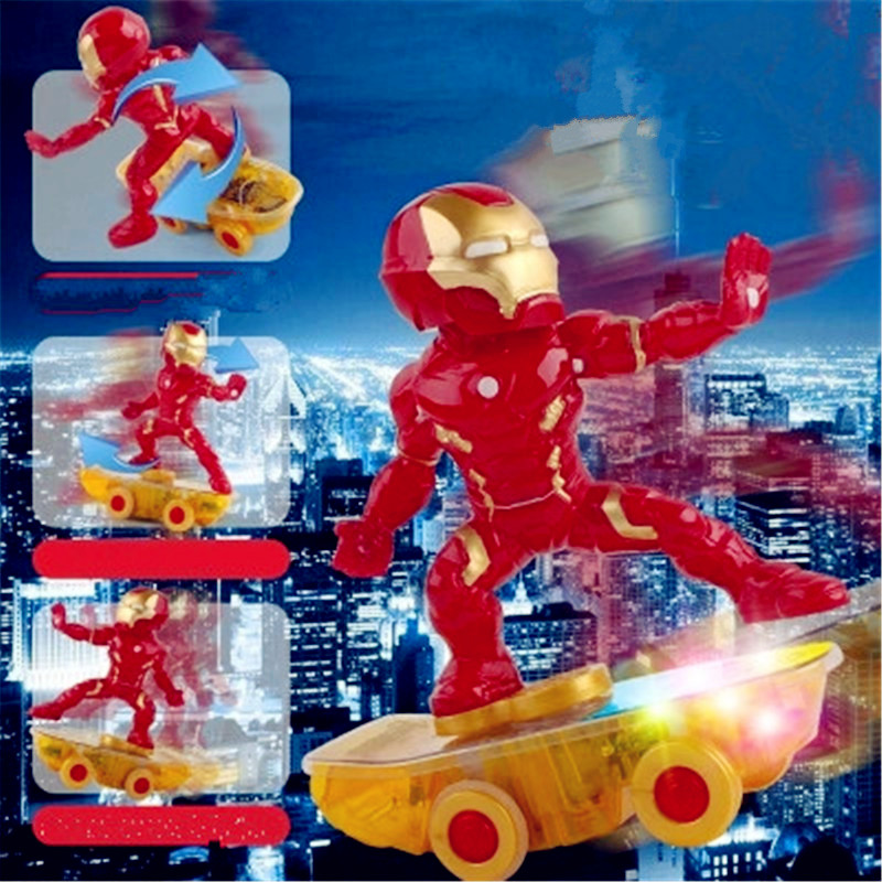 Avengers:Infinity War Superhero Iron Man Remote Control USB Charging Scooter PVC Action Figure Toy G1252 free shipping marvel iron man action figure superhero tonny pvc figure toy 6 chritmas gift prototype