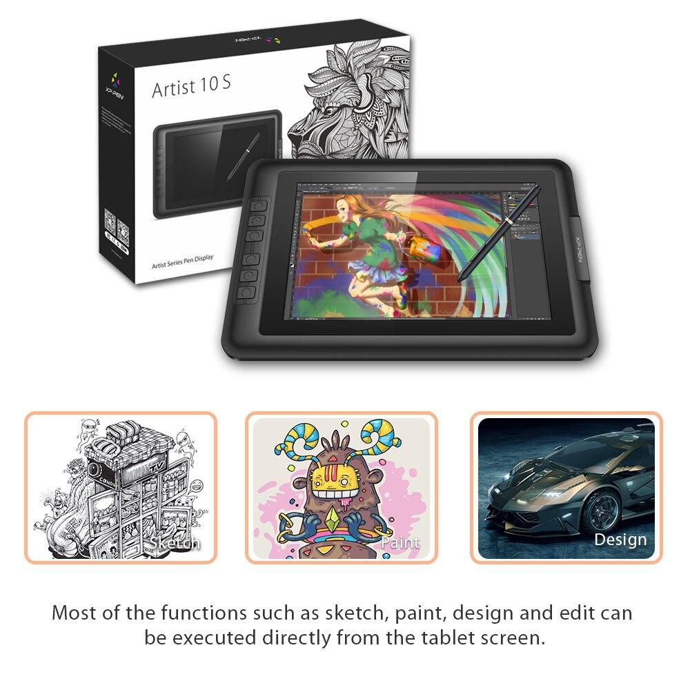 XP-Pen Artist10S rajz tablet grafikus monitor tábla toll kijelző - Számítógép-perifériák - Fénykép 5
