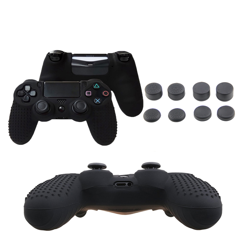 все цены на XBERSTAR Anti-slip Silicone Skin Cover Case for Dualshock 4 Sony PlayStation4 PS4 PS 4 Pro/ Slim Controller Stick Grip Caps онлайн