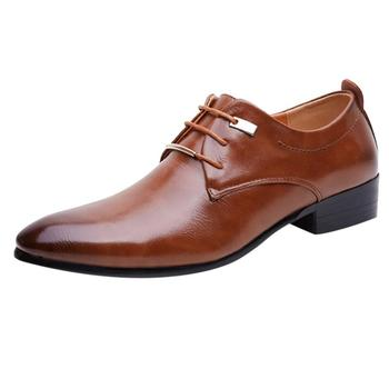 Classic Leather Men's Shoes - Slip On Dress Shoes
