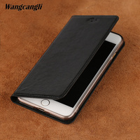 Genuine Leather For iphone 7 case Business for iPhone case 6s 7 8 plus x case High end leather business flip car line phone case