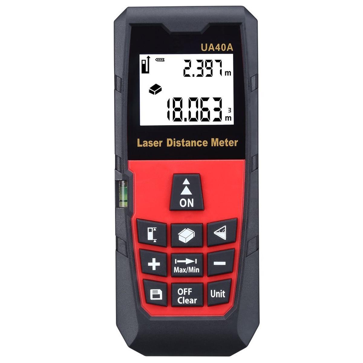 ФОТО UYIGAO 131 Feet / 40 Meter Digital Laser Distance Measure Rangefinder Meter Tape Diastimeter Large LCD with Backlight