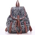 Women Printing Canvas Backpack Girls Shoulder Bag Travel Bagpack New Drawstring Floral School Bags