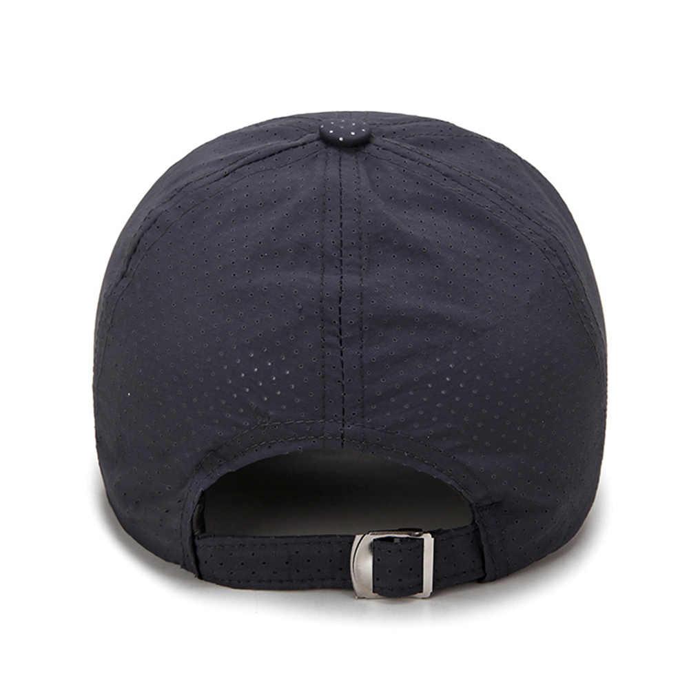 Męskie kapelusz na lato czapka z daszkiem czapka z daszkiem dla mężczyzn oddychające szybkoschnący Mesh czapki kobiety parasolka czapki regulowany Gorras kapelusz