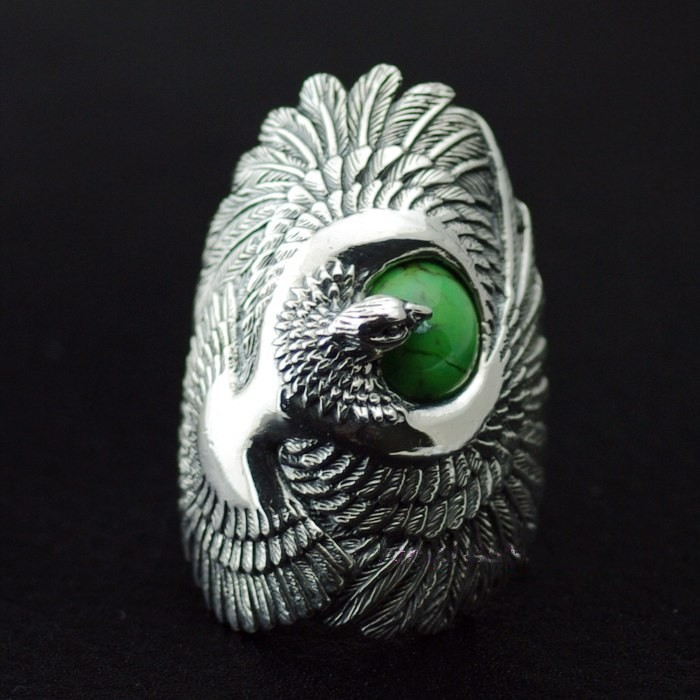 Good vibrations Natural stone thai silver ring