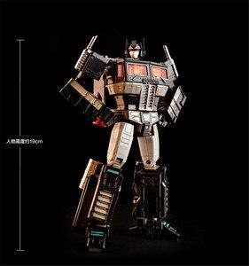 Image 2 - COMIC CLUB KBB Trasformazione OP Comandante MP10V rosso nero bianco Della Lega di Metallo Con Zaino Action Figure Giocattoli Robot
