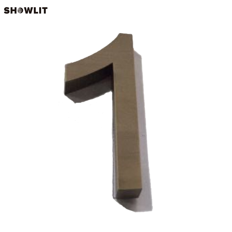 Brushed Antique Bronze Modern House Numbers Custom Made custom made golden color modern house numbers