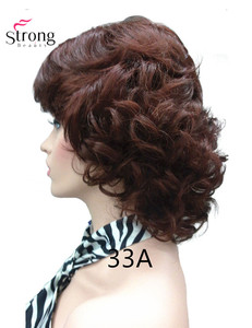 Image 3 - StrongBeauty Womens Short Curly Heat Resistant Synthetic Auburn Hair Wigs COLOUR CHOICES