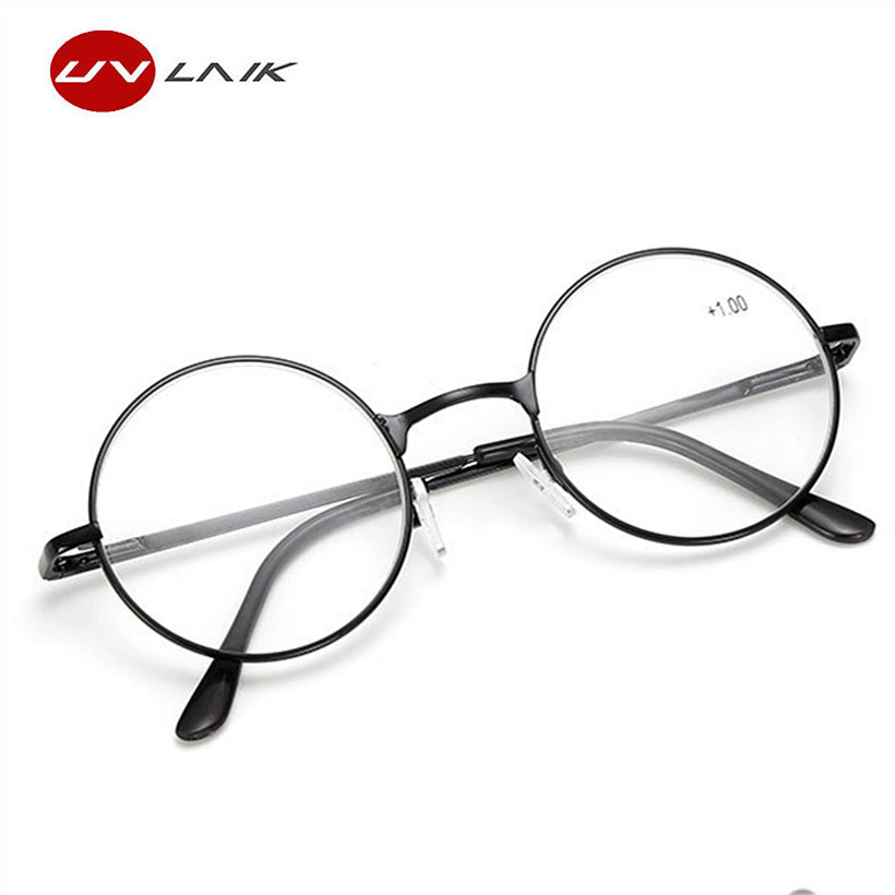 0cf2f0cd18b UVLAIK Round Spectacle Reading Glasses For Harry Potter Metal Frame Glasses  Plain Mirror Presbyopia Male Female Reading Glass-in Reading Glasses from  ...