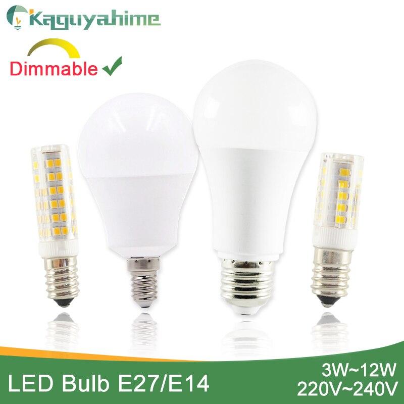 Kaguyahime 1 шт./5 шт. затемняемый мини E14 Светодиодный светильник 220В светодиодный E14 лампа светодиодный светильник E27 3 Вт 5 Вт 6 Вт 9 Вт 12 Вт лампада ...